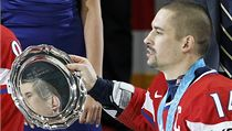 Česko slaví bronzové medaile (Tomáš Plekanec)