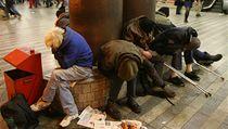 Bezdomovci na hlavním nádra�í v Praze | na serveru Lidovky.cz | aktu�ln� zpr�vy