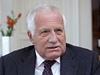 Prezident Václav Klaus při rozhovoru pro LN