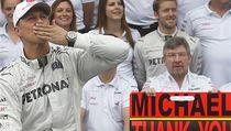 N�mecký pilot F1 Michael Schumacher se lou�í | na serveru Lidovky.cz | aktu�ln� zpr�vy