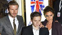 Rodina Beckhamových na premiéře muzikálu Viva Forever!