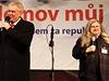 Prezident Milo� Zeman a jeho podporovatel Franti�ek Ringo �ech.