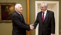 Václav Klaus se se�el s Milo�em Zemanem. | na serveru Lidovky.cz | aktu�ln� zpr�vy