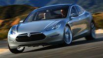Interi�r vozu Tesla Model S