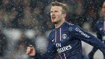 David Beckham při premiéře za PSG.
