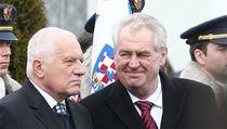 Dosluhující prezident Václav Klaus a jeho nástupce Milo� Zeman spole�n� uctili památku T. G. Masaryka. | na serveru Lidovky.cz | aktu�ln� zpr�vy