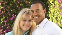 Lindsey Vonnová a Tiger Woods.