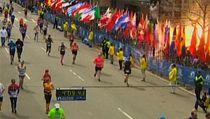 Zachycení výbuchu při bostonském marathonu.