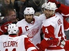 �eský hokejista Detroitu Red Wings Jakub Kindl (vpravo) a jeho spoluhrá� Henrik Zetterberg | na serveru Lidovky.cz | aktu�ln� zpr�vy