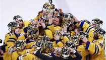 Radost hokejist� �védska z výhry na mistrovství sv�ta | na serveru Lidovky.cz | aktu�ln� zpr�vy