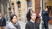 Mark Zuckerberg v Praze