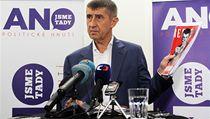 Andrej Babi� na tiskové konferenci politického hnutí Ano.   | na serveru Lidovky.cz | aktu�ln� zpr�vy