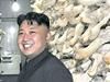 Kim Čong-un v houbové laboratoři.