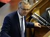 Bývalý ministr financí Miroslav Kalousek vystoupil na jednání Poslanecké sněmovny v Praze.