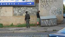 Mlad�k mo�� pobl� zast�vky Otakarova, Praha 4