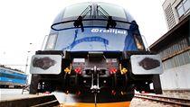 Spirit of Brno � první elektrická lokomotiva Taurus od Siemensu ve firemním modrobílém nát�ru s logem �D. | na serveru Lidovky.cz | aktu�ln� zpr�vy