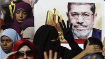 Soud s Mursím doprovázejí demonstrace stoupenců Muslimského bratrstva.