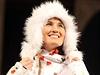 Slušivá beranice. Nikola Sudová představila oblečení pro olympiádu v Soči.