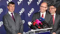 Hnut� ANO a �SSD domlouvaly v Pr�honic�ch u Prahy obrysy nov� vl�dy.