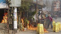 Povolební protesty v Bangladéši