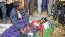 Demonstrant zraněný ve střetu v policejními jednotkami