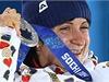 Martina Sáblíková se stříbrnou medailí.