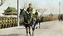 Generál Macui Iwane triumfálně vjíždí do Nankingu