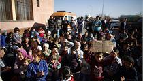 Syr�tí uprchlíci p�i náv�t�v� Vysokého komisa�e UNHCR v uprchlickém tábo�e v Sofii | na serveru Lidovky.cz | aktu�ln� zpr�vy
