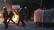 Venezuelská policie zasahuje proti demonstrant�m (ilustra�ní snímek). | na serveru Lidovky.cz | aktu�ln� zpr�vy