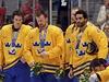 Smutní hokejisté �védska se st�íbrnými medailemi
