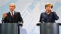 Putin: Vybudujeme t�etí, �tvrtou v�tev plynovodu do N�mecka... Merkelová: Ale to snad ne, Vladimire Vladimirovi�i, my máme plynu dost. | na serveru Lidovky.cz | aktu�ln� zpr�vy