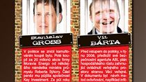 Ex-Prime Minister Stanislav Gross �SSD and Public Affairs (VV) paymaster Vít Bárta top the list of Czech politicians and businessman who people polled by Blesk say should be behind bars | na serveru Lidovky.cz | aktu�ln� zpr�vy