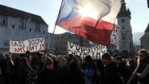 Demonstrators in Náchod on Tuesday | na serveru Lidovky.cz | aktu�ln� zpr�vy