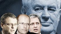 S kým by Bohuslav Sobotka (uprost�ed) u Milo�e Zemana narazil? Moratorium se po Lubomíru Zaorálkovi (vlevo) roz�í�ilo i na Ji�ího Dienstbiera. | na serveru Lidovky.cz | aktu�ln� zpr�vy