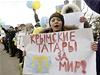 �Krym�tí Tata�i za mír!� Proukrajinská demonstrace na Krymu (archivní snímek z... | na serveru Lidovky.cz | aktu�ln� zpr�vy
