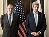 Ruský ministr zahraničí Sergej Lavrov (vlevo) jedná se svým americkým protějškem Johnem Kerrym. Setkání je považováno za poslední příležitost, kdy se může Západ pokusit přimět Moskvu ke zrušení krymského plebiscitu.   | na serveru Lidovky.cz | aktuální zprávy