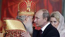 Dvě důležité postavy současného Ruska mají vřelý vztah: patriarcha pravoslavné církve Kirill a prezident Vladimir Putin.