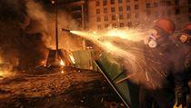 Násilné st�ety mezi demonstranty a policií 23. ledna v Kyjev�. | na serveru Lidovky.cz | aktu�ln� zpr�vy
