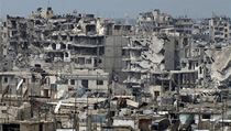 Válkou zničený Homs.