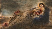 Bohuslav Reynek: Pieta. Z v�stavy ve Vald�tejnsk� j�zd�rn�
