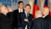 Poslední povinnost jako trenér reprezentace si na Hradě odbyl Alois Hadamczik