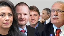 Pravicová squadra, zleva Jana Bobo�íková, Petr Fiala, Petr Mach, Petr Hájek a Václav Klaus. | na serveru Lidovky.cz | aktu�ln� zpr�vy
