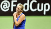 Petra Kvitov� slav� v�hru ve Fed Cupu proti It�lii