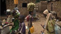 Evakuace muslim� z Bangui.