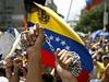 Protivl�dn� protesty ve venezuelsk�m Caracasu.