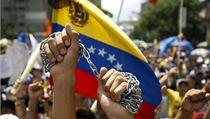 Protivládní protesty ve venezuelském Caracasu. | na serveru Lidovky.cz | aktu�ln� zpr�vy