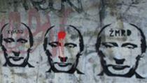 Graffiti Putina v pra�ském Braníku. | na serveru Lidovky.cz | aktu�ln� zpr�vy