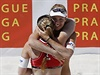 Turnaj Světového okruhu žen v plážovém volejbalu Prague Open 2014 v Praze....