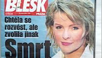 Sebevražda Ivety Bartošové v bulvárních médiích.