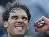 Radující se Rafael Nadal.